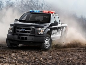 "The new Ford F-150 as a ""first-ever pursuit-rated pickup truck"""