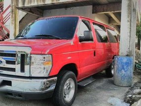 Ford E150 2015 Model AT Red Van For Sale