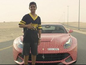 [Video] Take a peek at Ferrari F12Berlinetta of a Dubai child