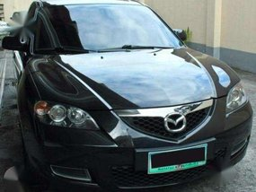 Mazda 3 Black. Low mileage. Very good quality. Automatic