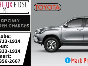 2019 Brand New Toyota Hilux E DSL MT 22k Monthly