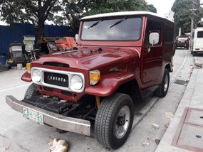 1981 Toyota Landcruiser MT Red SUV For Sale