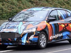 Ford Focus 2019 spotted in vivid camouflage [Spy shots]