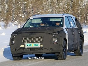 [Spied] All-new 8-seat Hyundai SUV to compete with the Subaru Ascent