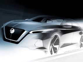 Design sketch of next-gen Nissan Altima 2018 revealed