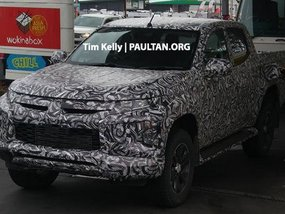 [Spy shots] Mitsubishi Triton 2018 facelift comes with new face