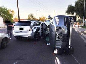An Uber self-driving car kills a pedestrian in Arizona