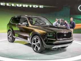 The new Kia Telluride to put on a concept-similar look