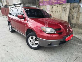 Mitsubishi Outlander Gls 2004 Red For Sale