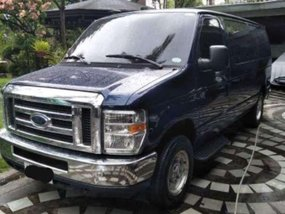 Ford E-150 2013 Blue Van Top of the Line For Sale