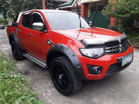 2013 Mitsubishi Strada GLX Red Pickup For Sale