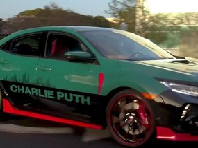 Charlie Puth Designs The Face of His own Honda Civic Type R 2018