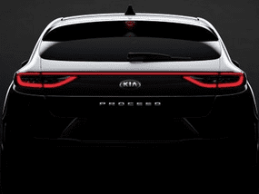 Teaser photo of the Kia ProCeed 2019 reveals its rear, let's throw some guesses