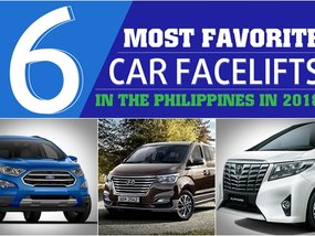 [Car infographic] Top 6 most favorite car facelifts in the Philippines in 2018