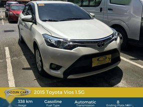 Toyota Vios 1,5G Automatic 2015 for sale