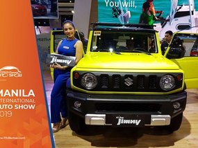 The all-new Suzuki Jimny 2019 showcased at MIAS with a playful design
