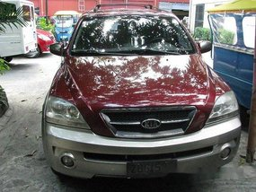 Red Kia Sorento 2005 at 122200 km for sale