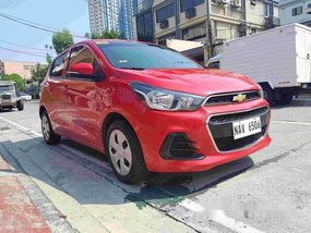 For sale Red 2017 Chevrolet Spark in Quezon City