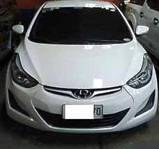 White Hyundai Elantra 2014 Automatic Gasoline for sale in General Salipada K. Pendatun