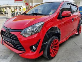 2nd Hand Red 2017 Toyota Wigo 14000 km in Dimasalang