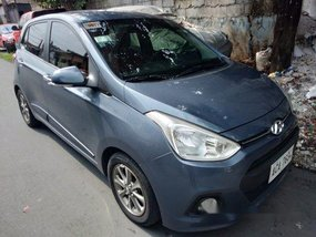 Blue Hyundai Grand I10 2014 Automatic Gasoline for sale in Quezon City