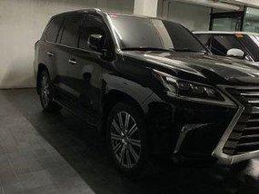 Black Lexus Lx 570 2018 at 3000 km for sale in Manila