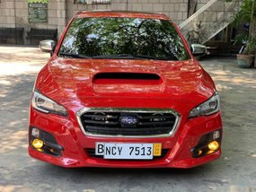 Red Subaru Levorg 2017 at 18000 km for sale