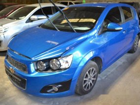 Blue Chevrolet Sonic 2015 Manual Gasoline for sale in Makati