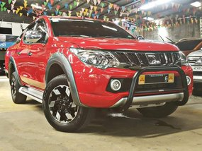 Red 2017 Mitsubishi Strada Automatic Diesel for sale