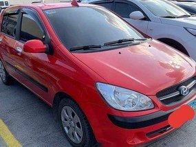 Selling Red Hyundai Getz 2009 Manual Gasoline at 77000 km