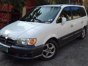 White Hyundai Trajet 2002 Automatic Diesel for sale