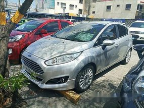 Silver Ford Fiesta 2017 Automatic Gasoline for sale