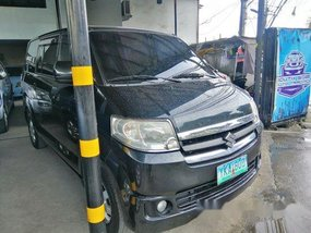 Black Suzuki Apv 2011 Manual Gasoline for sale