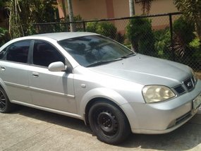 Silver Chevrolet Optra 2003 Manual for sale