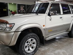 White Nissan Patrol 2002 Automatic Diesel for sale in Quezon City