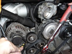 Replacing the accessory drive belt