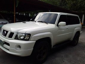 White Nissan Patrol 2009 Automatic Diesel for sale in Pasig