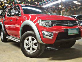 Red 2013 Mitsubishi Strada Diesel Manual for sale in Quezon City
