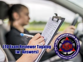 LTO Exam Reviewer in Tagalog (with answers)