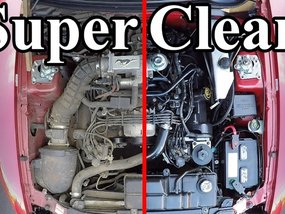8 steps to DIY clean car engine bay