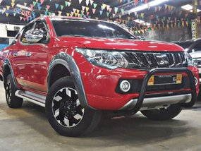Red 2017 Mitsubishi Strada Truck for sale in Quezon City
