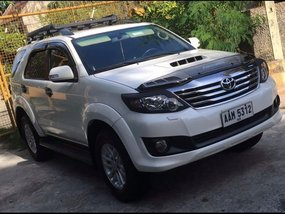 White 2014 Toyota Fortuner Automatic Diesel for sale