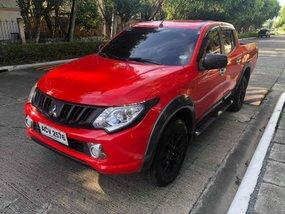 Sell Red 2016 Mitsubishi Strada at 44000 km in Davao City