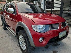 Sell Red 2009 Mitsubishi Strada Truck Manual Diesel