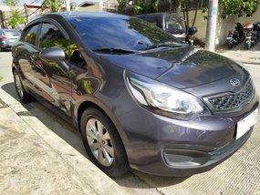 Grey Kia Rio 2012 Sedan for sale in Quezon City