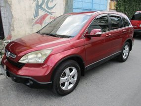 Red Honda CRV 2009 Automatic for sale in Makati