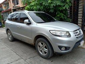 Silver 2010 Hyundai Santa Fe at 75000 km for sale in Cabuyao