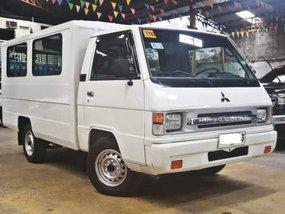 White 2016 Mitsubishi L300 Van for sale in Quezon City