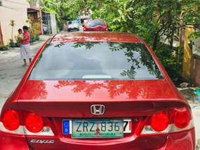 Red Honda Civic 2008 at 114000 km for sale