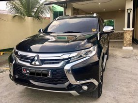 Black Mitsubishi Montero Sport 2016 at 72000 km for sale in Davao City